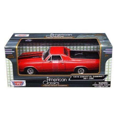 New 1:24 W/B AMERICAN CLASSICS COLLECTION - RED 1970 CHEVROLET EL CAMINO SS 396 Diecast Model Car By, Motor Max American Classis By Motor