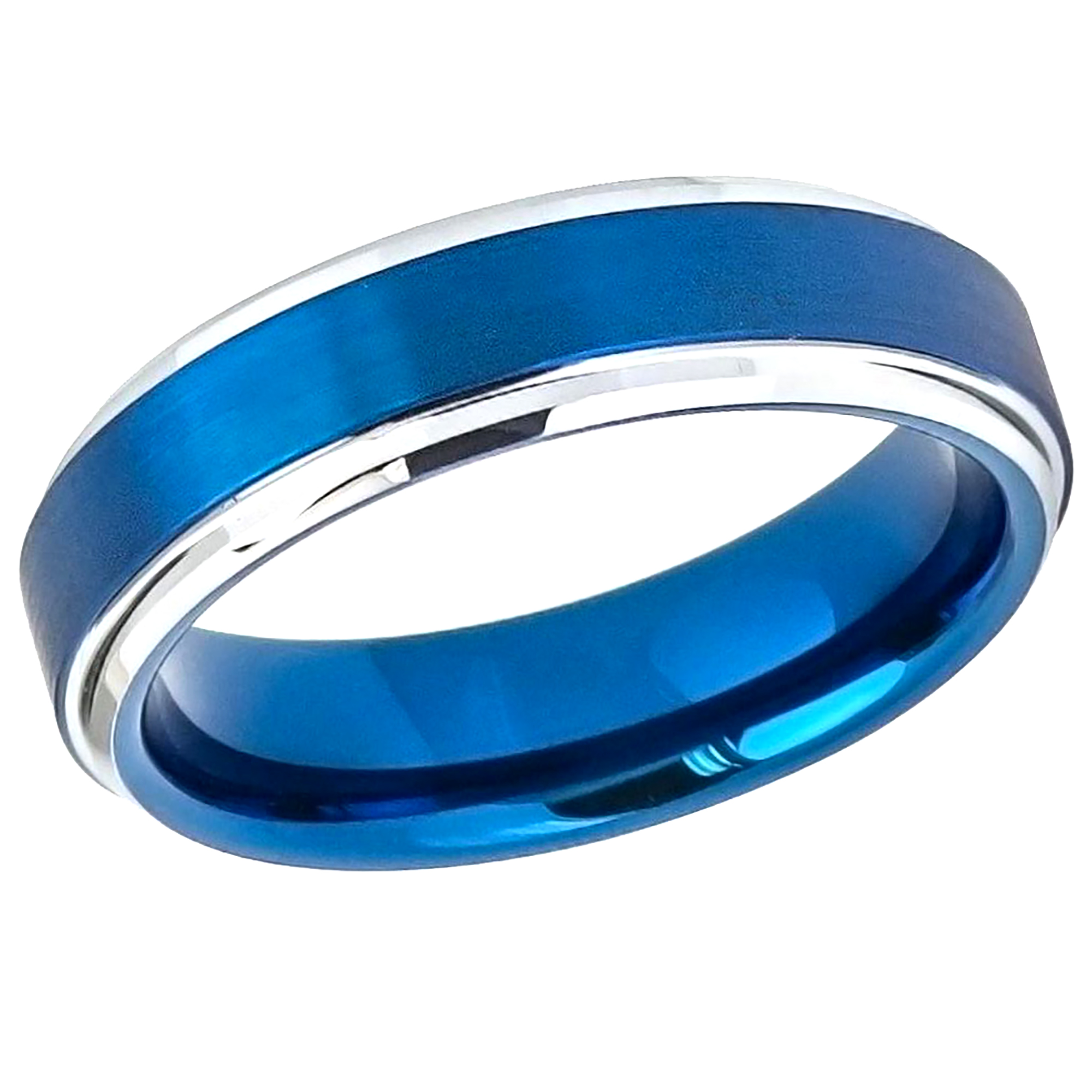 Jewelry Stores Network Mens Cobalt Polished 6mm Wedding Band Ring