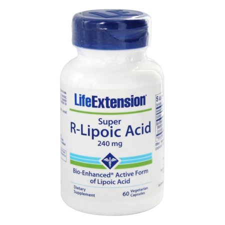 Life Extension - Super R-Lipoic Acid 240 mg. - 60 Vegetarian Capsules