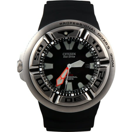 Citizen #BJ8050-08E Men's Eco Drive Black Rubber Strap Professional Diver (Eco Drive Professional Diver Watch)