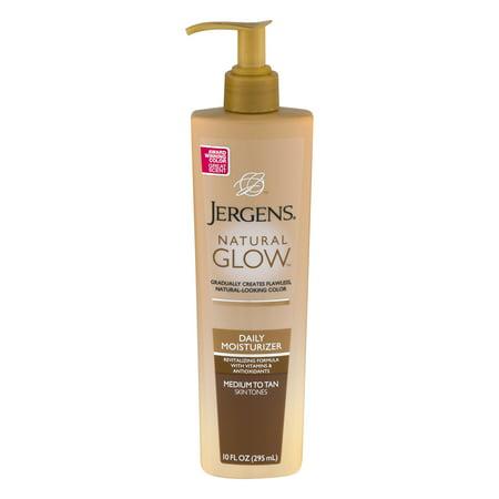 Jergens Natural Glow Medium to Tan Skin Tones Daily Moisturizer 10 fl. oz. Pump - Glow In The Dark Body