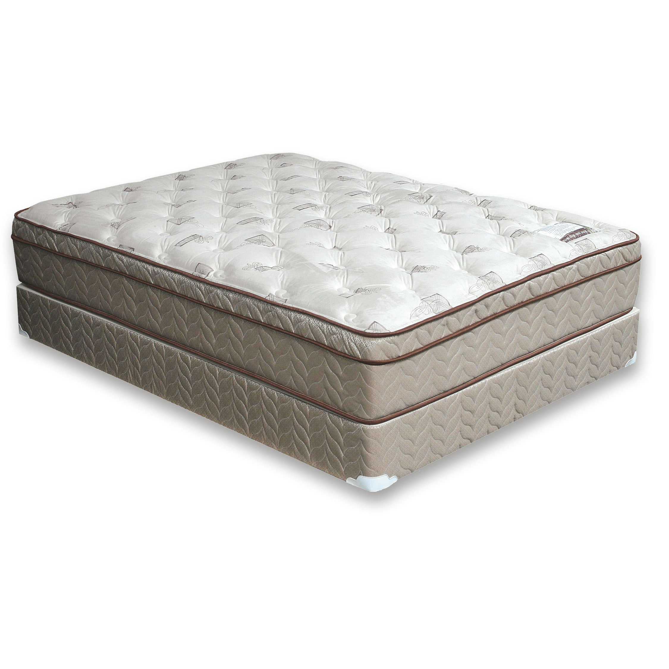 Furniture of America Dreamax Contemporary Eastern King Grey Euro Top Mattress by FOA