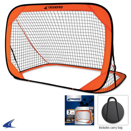CHAMPRO Pop-Up Soccer Goal 6' x 4'