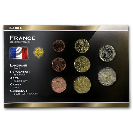 1999-2012 France 1 Cent-2 Euros Coin Set BU (Euro 50 Cent Coin)