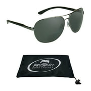 proSPORT Aviator Polarized Bifocal Sunglasses for Men Women Unisex. Nearly Invisible Magnification reader Line. +1.50, +2.00, +2.50 or +3.00