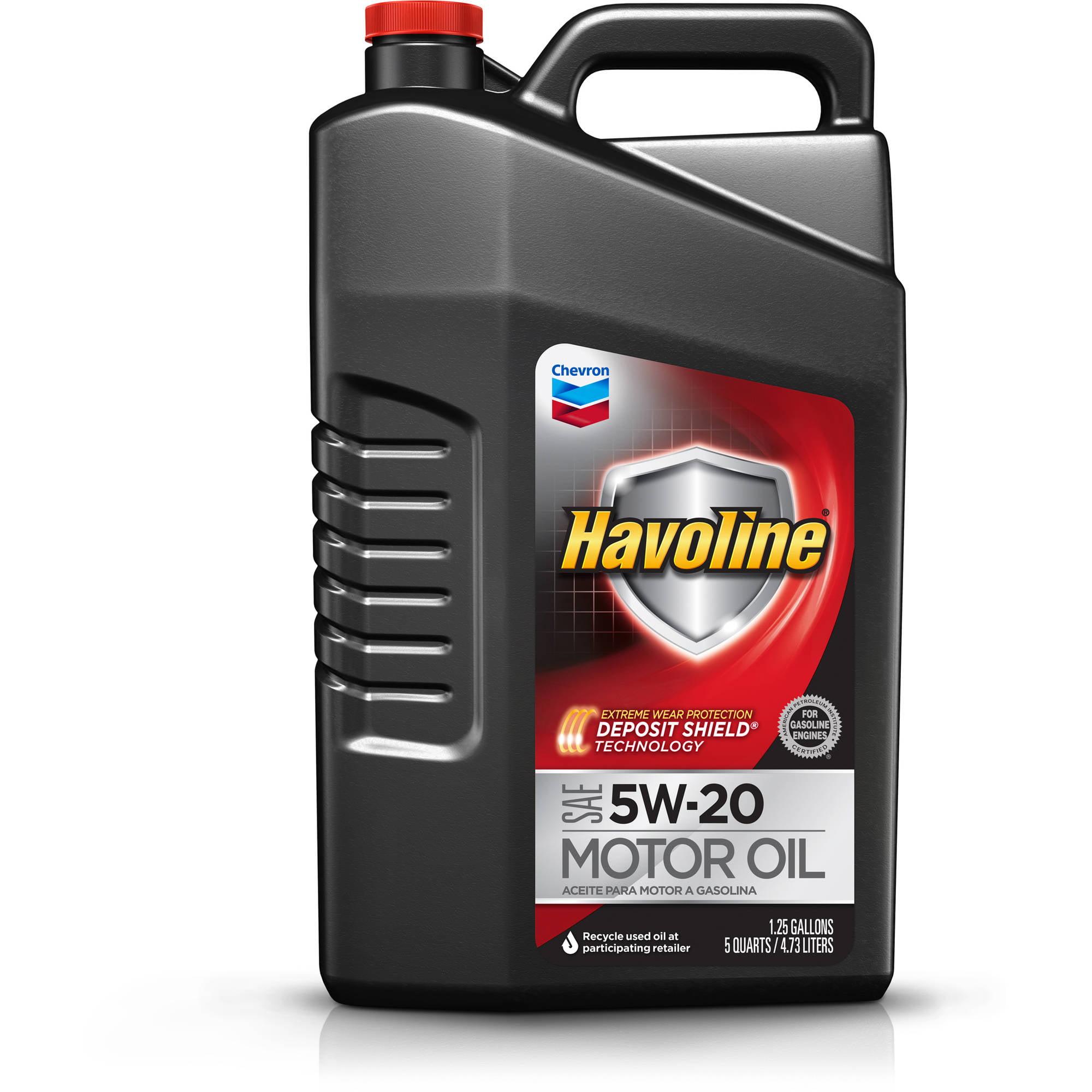 Havoline Motor Oil 5W20, 5 qt