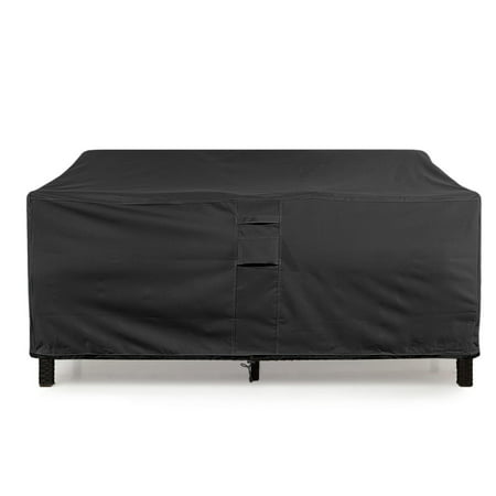 Love Seat Cover Weatherproof Outdoor Patio Sofa Protector Extra Large Black Black Large Outdoor Hanging