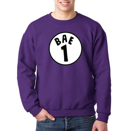 649 - Crewneck Bae 1 One Thing Parody Logo Sweatshirt