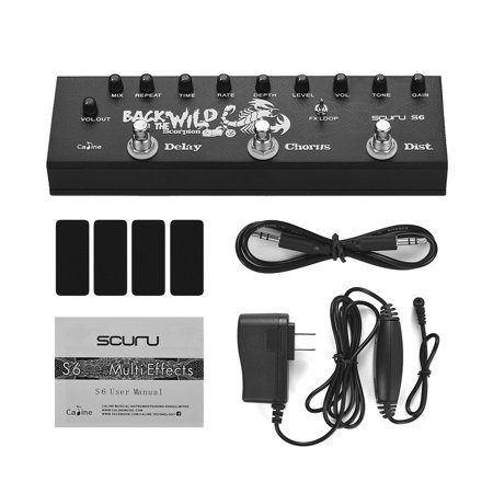 Caline SCURU S6 3-in-1 Electric Guitar Pedal Multieffect Pedal Delay Chorus Distortions Guitar Effects Pedals - image 5 de 7