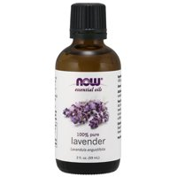 NOW Essential Oils, Lavender Oil, Soothing Aromatherapy Scent, Steam Distilled, 100% Pure, Vegan, 2-Ounce