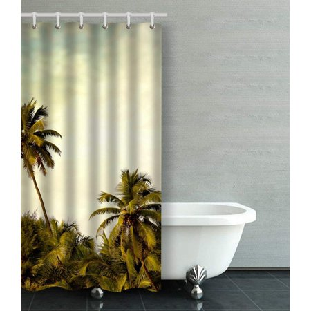 BSDHOME Beach Background Shower Curtain Bathroom Curtain 36x72 inches - image 1 of 1