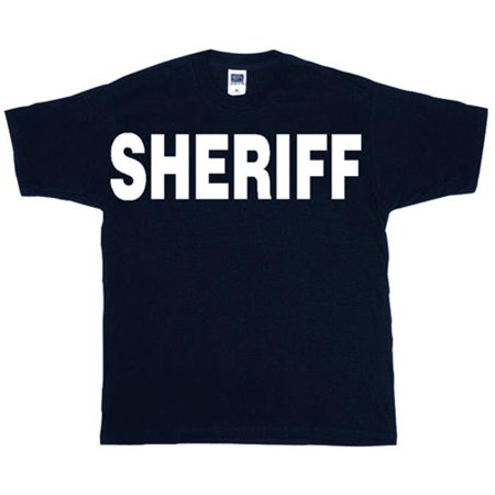 - Fox Outdoor 64-613 XXXL Sheriff Two-Sided Imprinted T-Shirt, Black - 3X Large