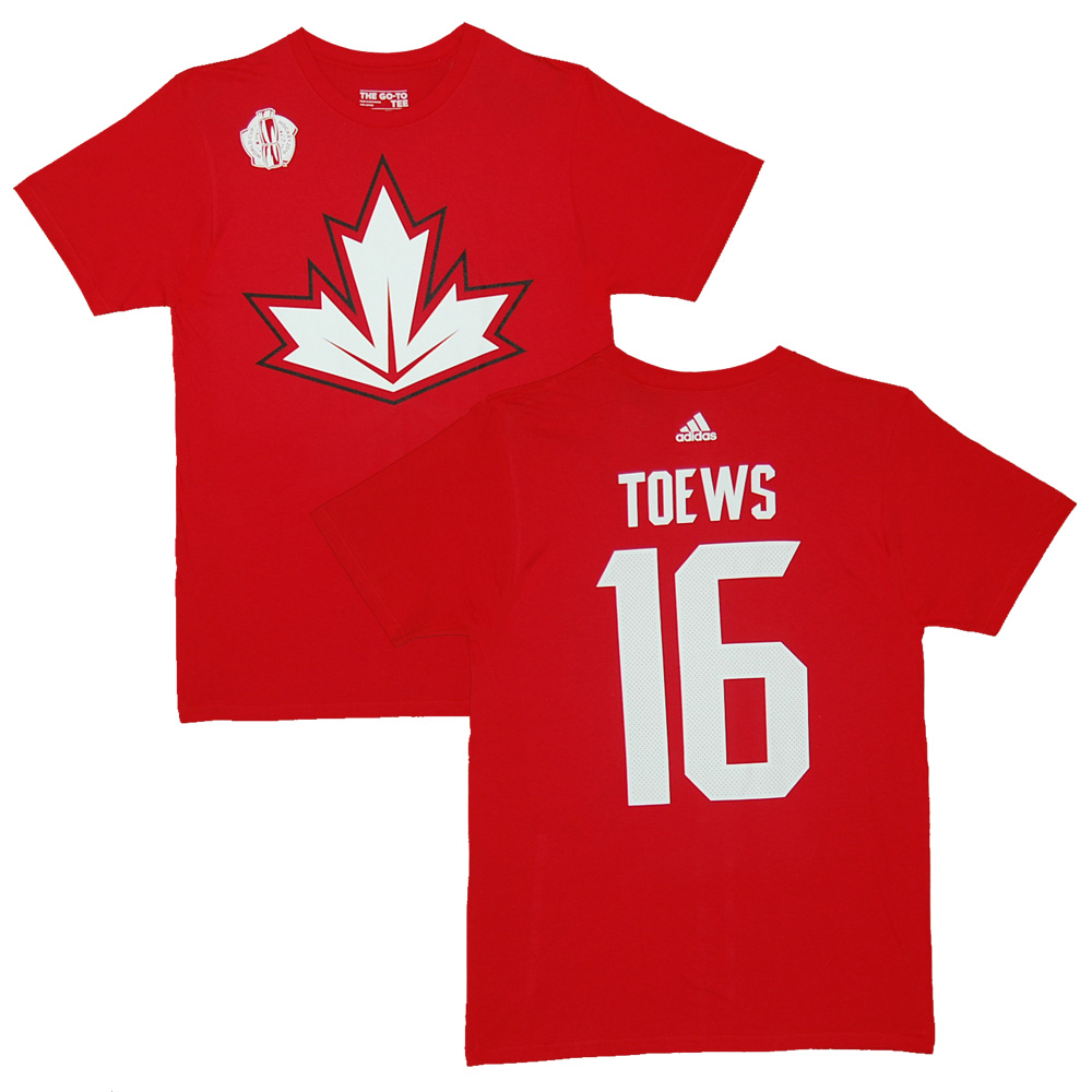 Canada World Cup of Hockey Jonathan Toews Red Name and Number T-Shirt