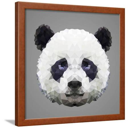 Panda Low Poly Portrait Framed Print Wall Art By kakmyc](Low Poly Portrait)