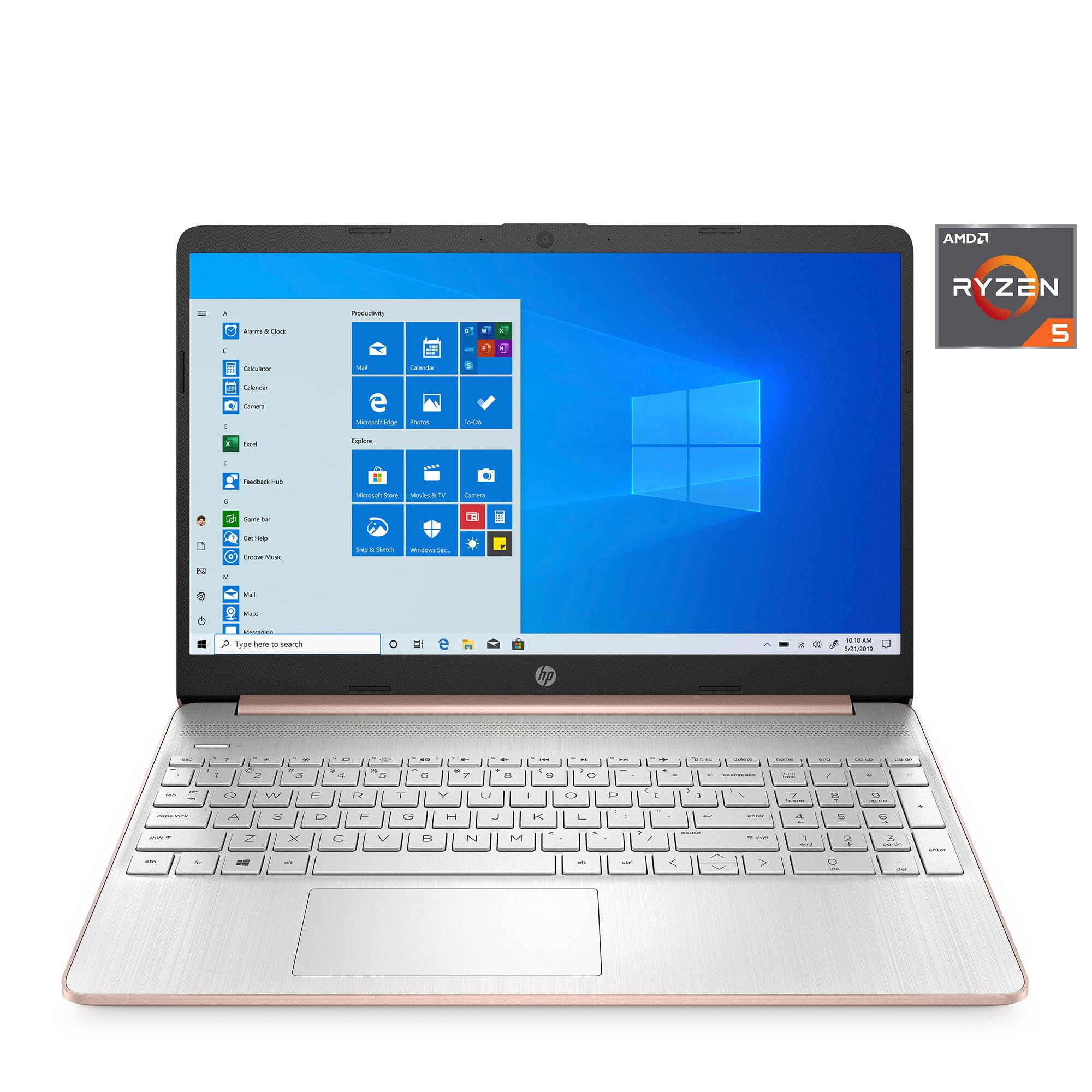 Hp 15 6 Ryzen 5 8gb 256gb Laptop Rose Gold Walmart Com Walmart Com