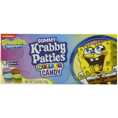 Gummy Krabby Patty ((Price/Case)Frankford Candy 10167 Krabby Patty Colors Theater Box 12-2.54)