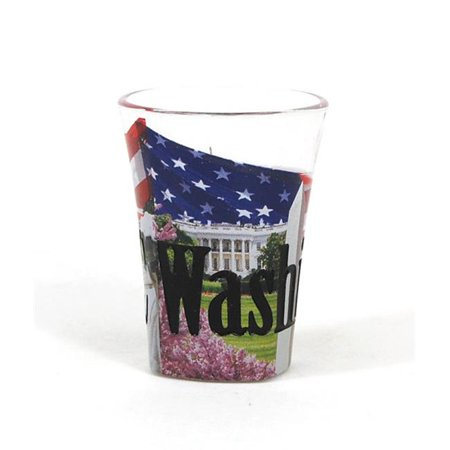 Americaware SGWDC03 Washington DC Full Color  Etched  Shot Glass