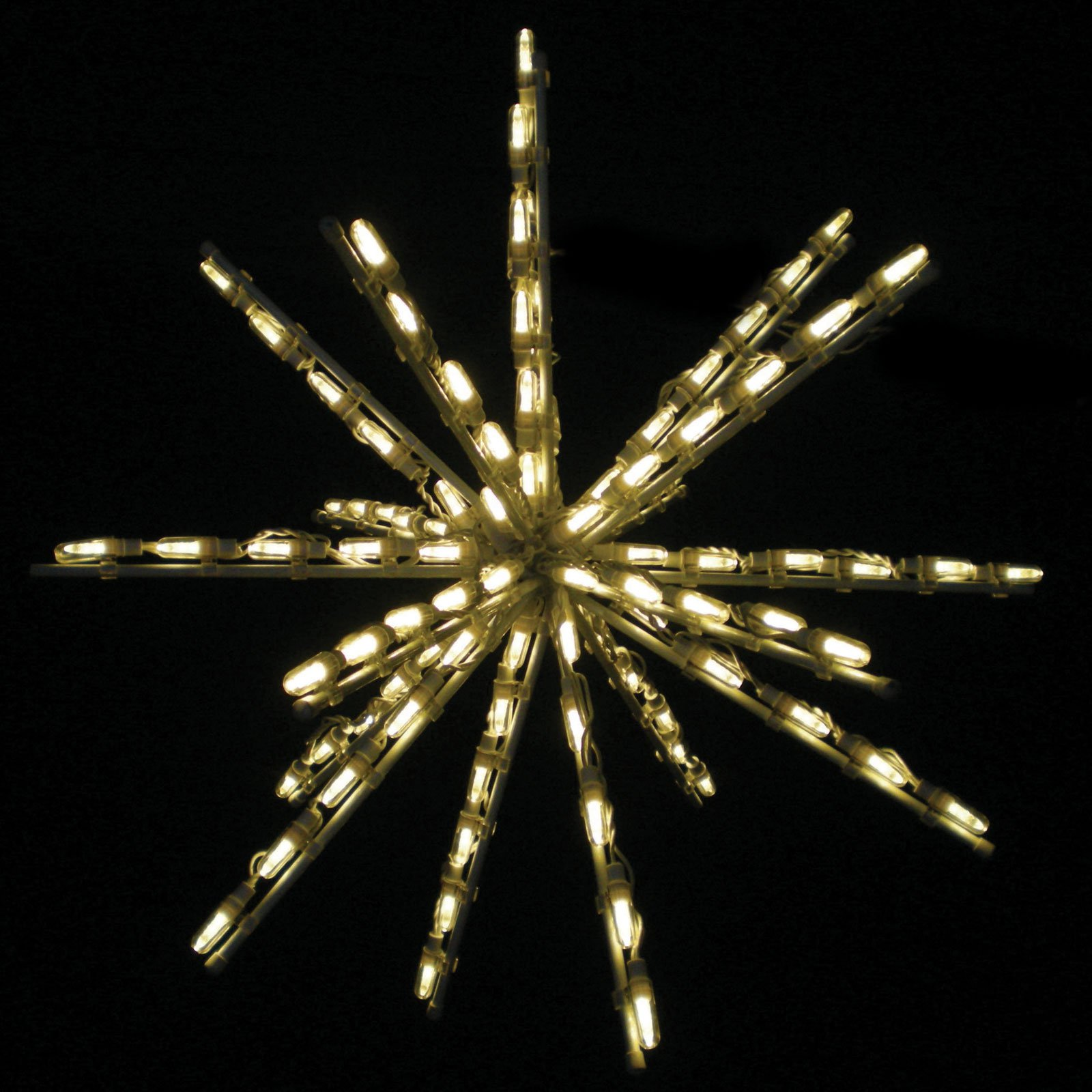 24-Inch Warm White One Color LED Starburst - 100 Bulbs - Set of 3
