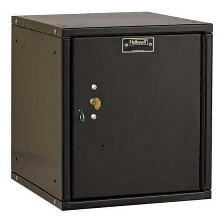 Box Locket (HALLOWELL HC121212-1PL-K-ME Box Locker, 11-5/16inWx12inDx12-11/16inH )