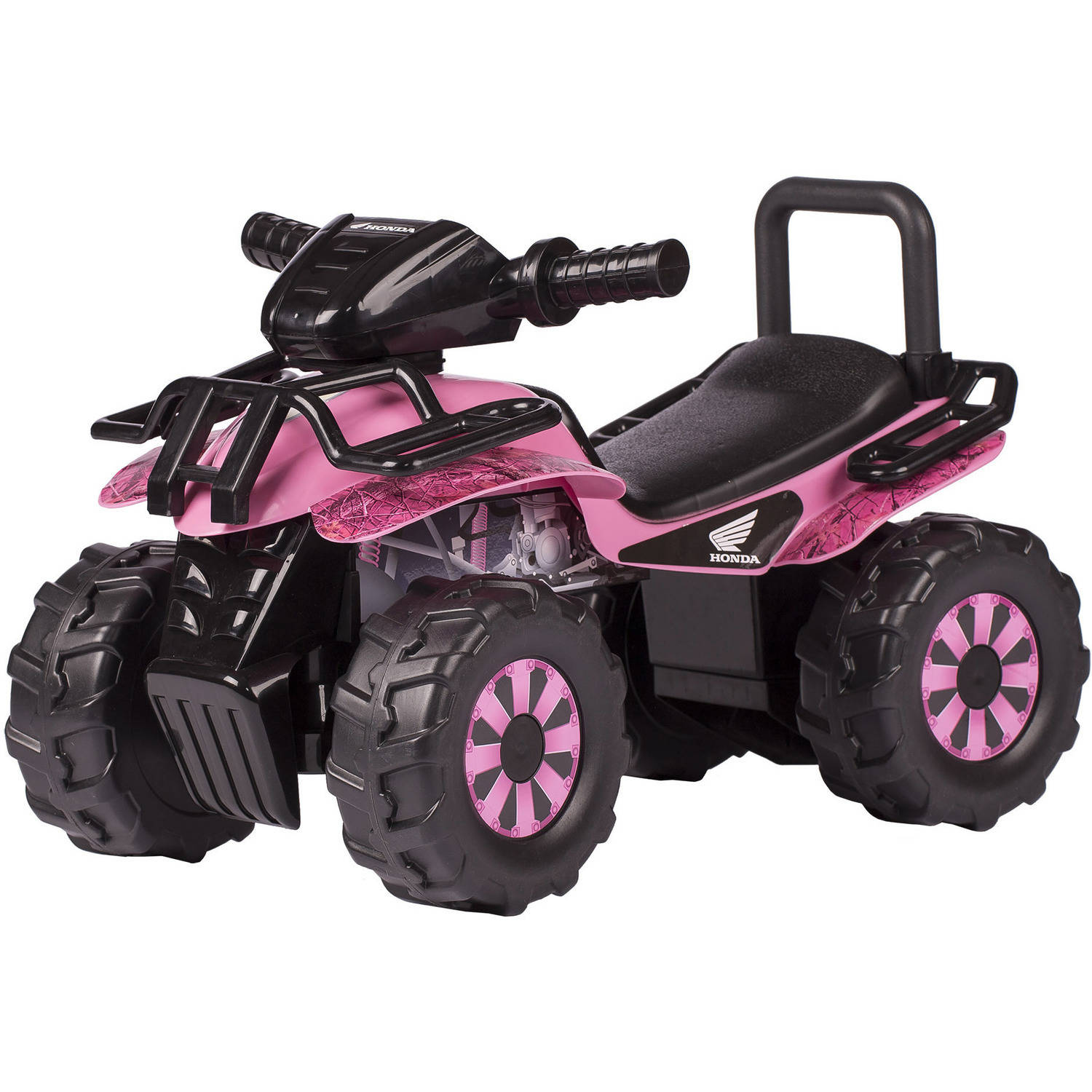 Honda Pink HD Camo Utility ATV Ride-On