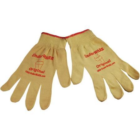 PC Racing Original Glove Liners Tan (White, Medium) Tan Motorcycle Gloves