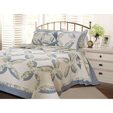 Greenland Home Fashions Francesca Oversized 3 Piece Quilt