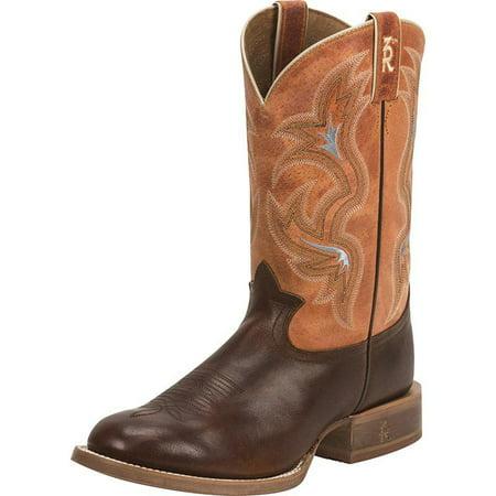 Tony Lama Boot Company Mens Cognac Crockett 13In Orange Carrizo Top