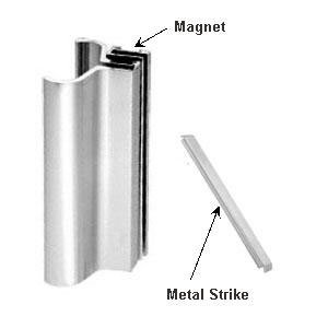 Brite Chrome Slip-On Handle For 3/16
