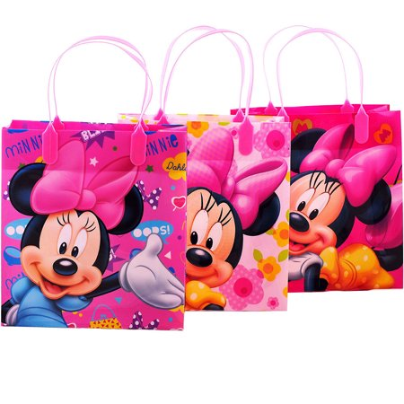 Disney Minnie Mouse 12  Party  Favors Medium Goodie Gift Bags - Disney Gift Bag