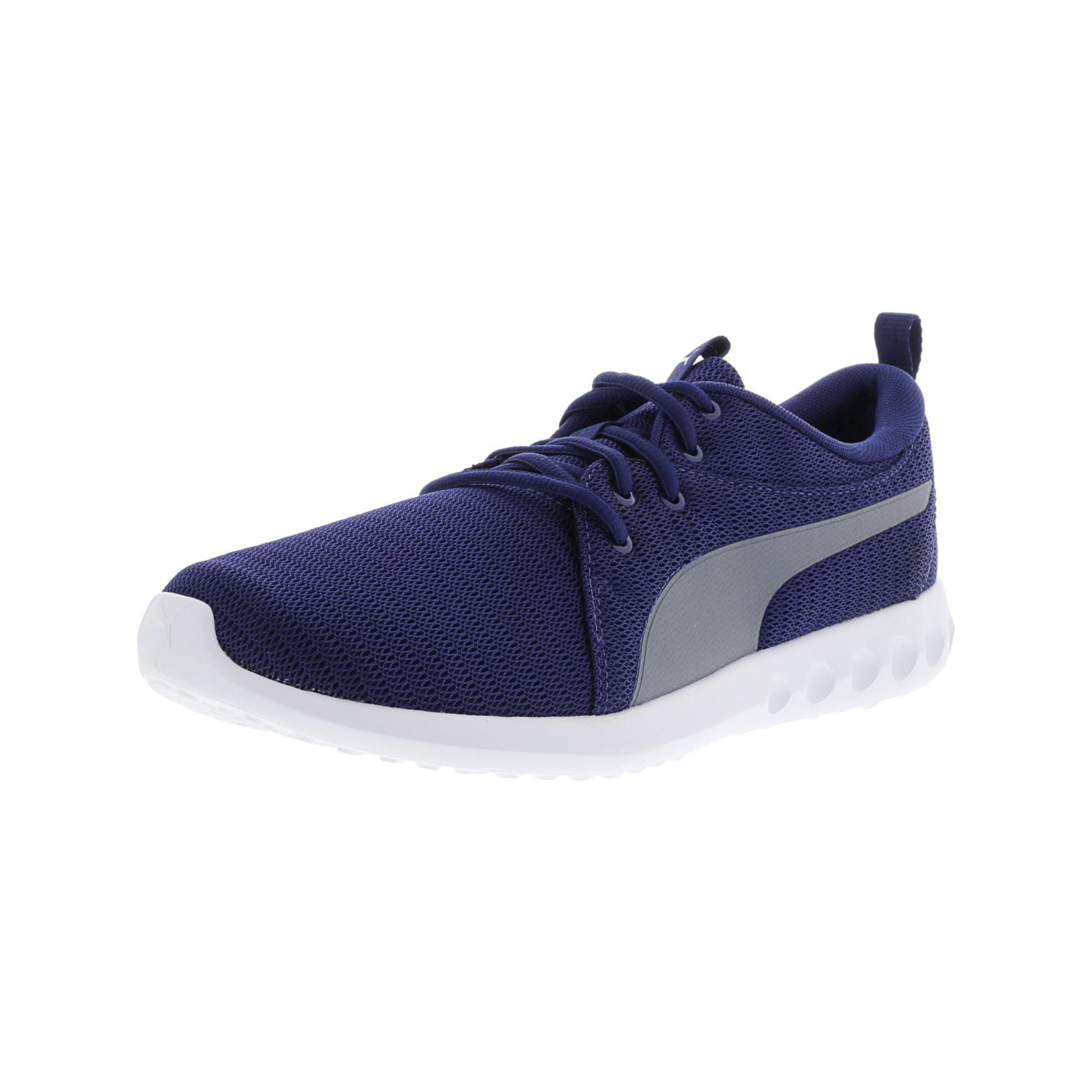 cbca4c8e2cf Puma Men s Carson 2 Blue Depths   Quiet Shade White Ankle-High Running Shoe  - 14M