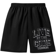 Terror Men's  Live By The Code Gym Shorts Black