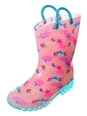 bc94d12e925ce Product Image Lilly Girls' Light-Up Rubber Rain Boots (Sizes 5 ...