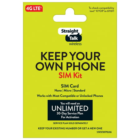 Straight Talk Bring Your Own Phone Mini SIM Pack Universal Tri-punch Bundle