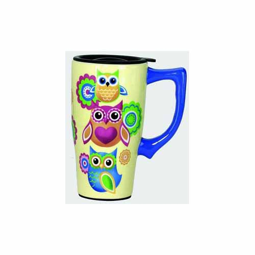 Owls Travel Mug by Spoontiques - 12562