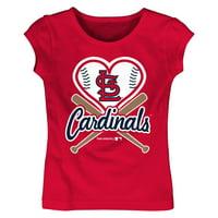 MLB St Louis Cardinals TEE Short Sleeve Girls Cotton Jersey Team Color 12M-4T