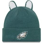 Philadelphia Eagles New Era Toddler Cozy Cutie Cuffed Knit Hat - Midnight Green - OSFA