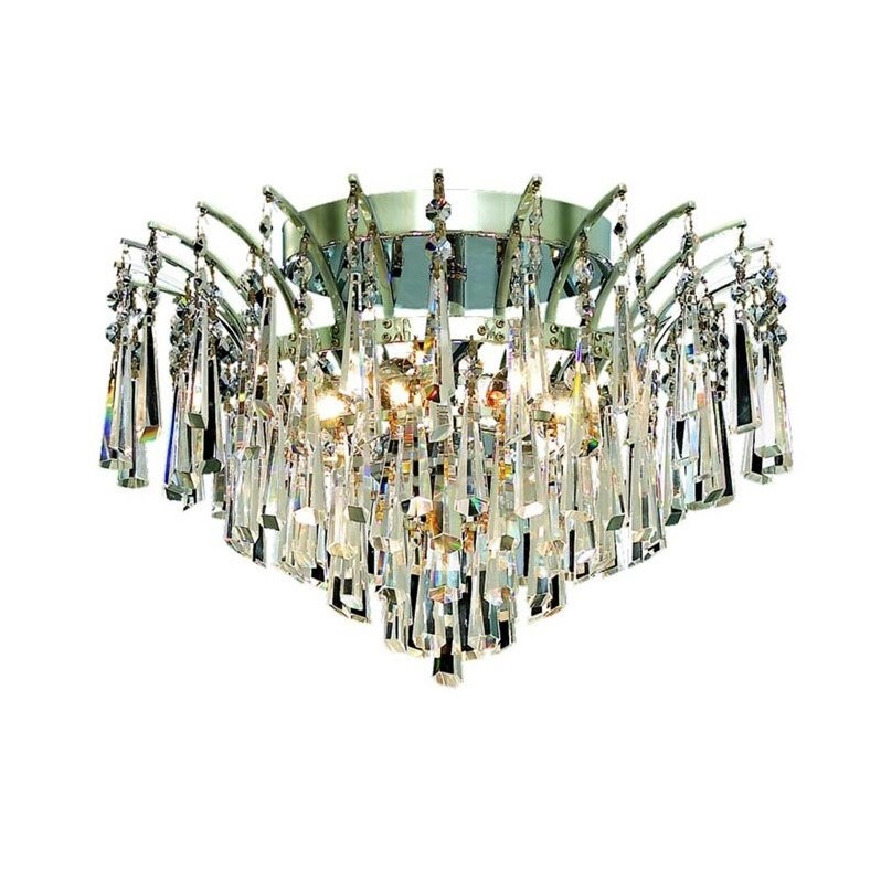 "Elegant Lighting Victoria 16"" 6 Light Spectra Crystal Flush Mount"