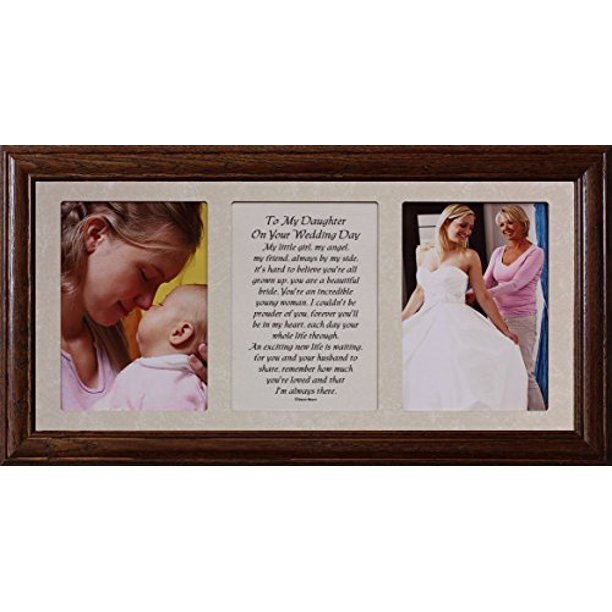 10x19 To My Daughter On Your Wedding Day Poetry Photo Holds Two Portrait 5x7 Photos Wedding Walmart Com Walmart Com