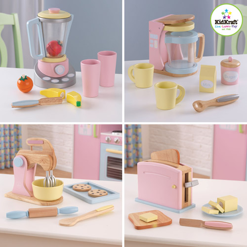 High Quality Kidkraft Pastel Kitchen Accessories 4 Pa