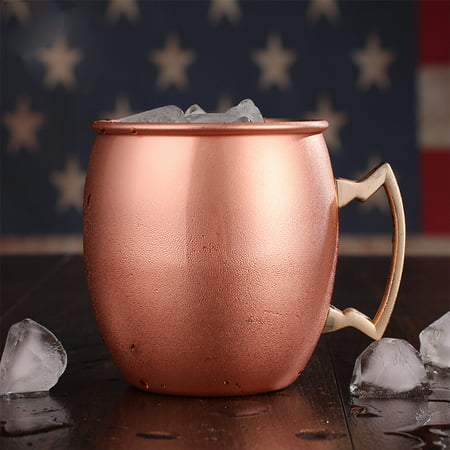 18 Oz Copper Moscow Mule Mugs Drinking Cup for Cocktails Iced tea and Beer Specification:Smooth ()