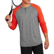 Russell Big Men's Performance Long Sleeve Two Tone Henley
