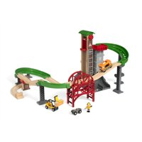BRIO World Wooden Railway Train Set - Lift & Load Warehouse Set - Ages 3+