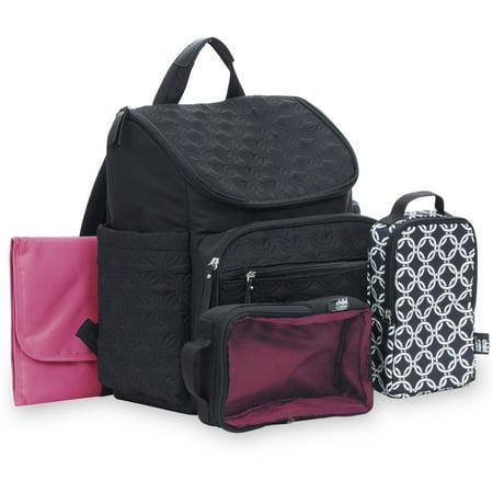 child of mine by carter 39 s quilted backpack diaper bag black. Black Bedroom Furniture Sets. Home Design Ideas