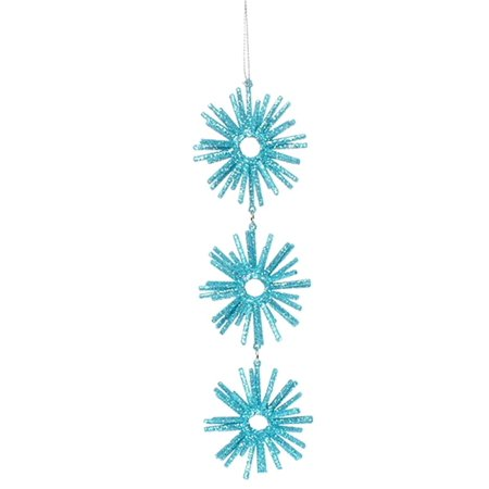 "8"" Hiver gel Blue Glitter Starburst Dangle Boule de Noël - image 1 de 1"