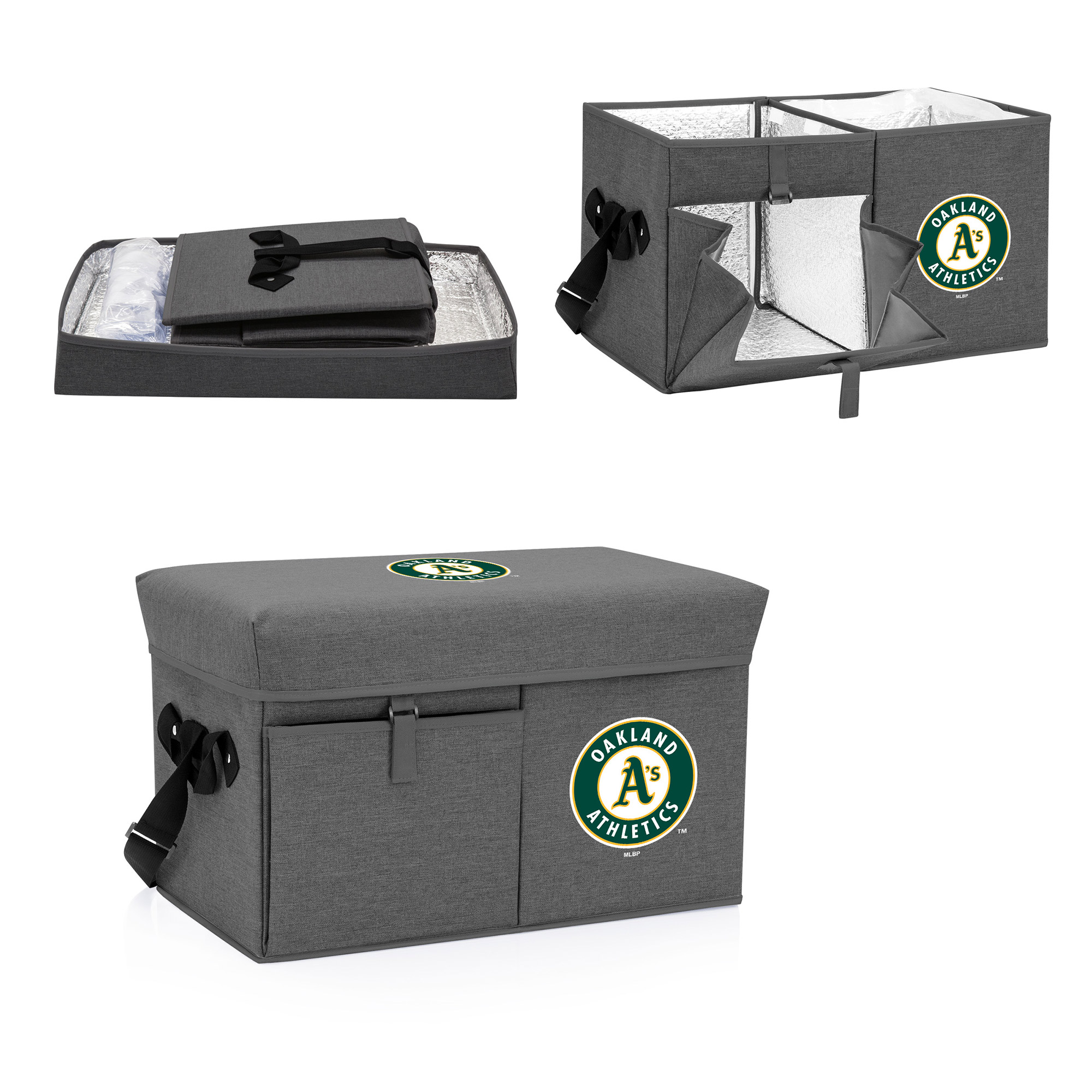 Oakland Athletics Ottoman Cooler & Seat - Gray - No Size