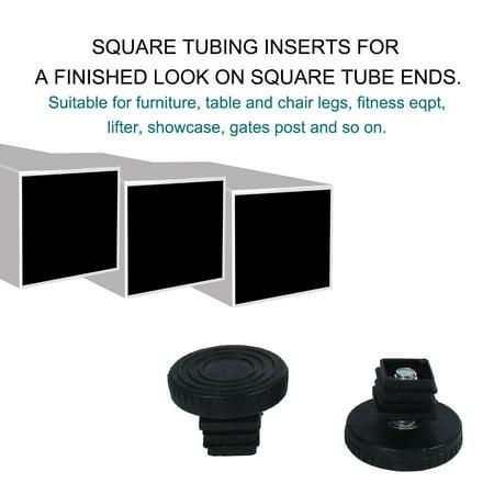 Adjustable Leveling Feet 20 x 20mm Tube Inserts Furniture Table Glide 2 Sets - image 1 de 8