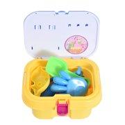 Iuhan 11PCS Kids Beach Toys Box Set Molds Tools Sandbox Toys On Summer Beach Holiday