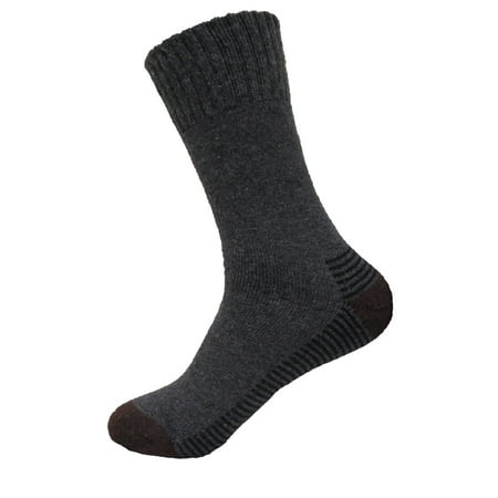 Mens Super Warm Heavy Thermal Merino Wool Winter Socks 10-13 (Pale Brown)