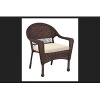 Living Accents Brown Steel Stackable Chair
