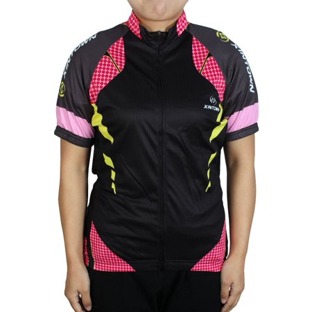 XINTOWN Authorized Women Outdoor Short Sleeve Bicycle Cycling Jersey Black